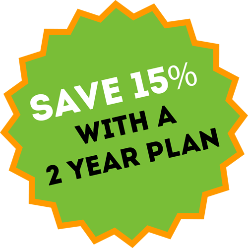 Save 15 Percent with a 2 Year Plan